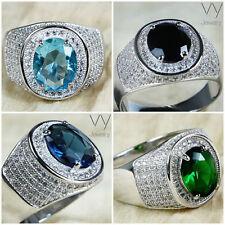Beauty Stone Sterling Silver Rings for Men