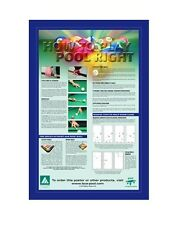"""BCA Official How to Play Pool Right Billiard Poster Bar Game Room Sign 24"""" x 36"""""""
