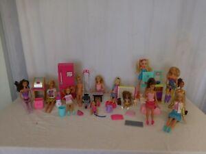 HUGE Barbie 13 Dolls  Clothes Shoes Playset Items Lot