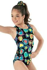 BALERA DANCEWEAR Heart Beat Print Tank Leotard PL7758 LC Large Child (14) NEW