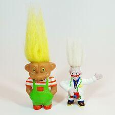 Lot 2 Anciennes Figurines SOMA PVC Troll + Docteur Troll WEETOS rare Années 90