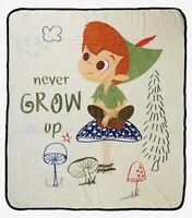 "Disney Peter Pan Never Grow Up Silk Touch Soft Plush Throw Blanket 50""x60"""