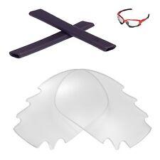 New Walleva Vented Clear Lenses And Black Earsocks 4 Oakley Jawbone