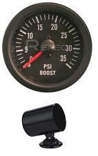 Noir 52mm voiture diesel boost gauge 3 PSI lentilles claires mécanique + 52mm pod