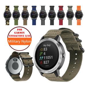 Garmin Vivoactive 3 / 3S Watch Band, Vivomove HR Military Woven Nylon Strap