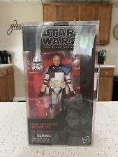 Hasbro Star Wars Clone Captain Rex Black Series 6 Inch Action Figure.