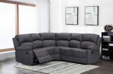 Alaska grey reclining corner sofa