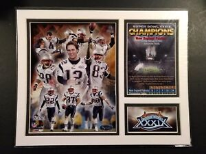 NEW ENGLAND PATRIOTS Super Bowl XXXIX Milestones & Memories MATTED PHOTO