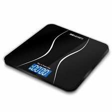 Black Glass Body Weight Scale Digital Bathroom Chic Scales Step-On Technology