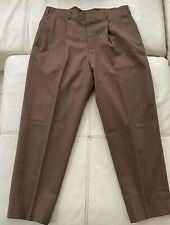 VINTAGE GENUINE 1950 PURE NEW WOOL CHECK TROUSERS - W36 L29 ROCKABILLY
