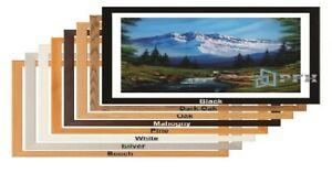 Modern White Picture Frame Black Photo Frame Oak Panoramic Wood Poster Frame