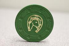 Paulson Lucky Horseshoe Horse Green Casino Poker Chip - NEW