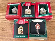 (5) Hallmark Miniature Ornaments 1988-1999
