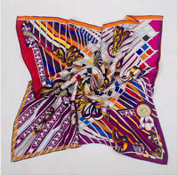 100% silk scarf square  satin silk scarf with hand-rolled edge