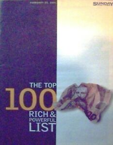 NZ SUNDAY TIMES MAGAZINE 2001 - TOP 100 RICH & FAMOUS -XENA - LUCY LAWLESS 11X14