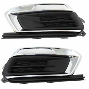 CHEVY CRUZE 2015-2016 LEFT RIGHT FOG LIGHT DRIVING LAMP COVERS BUMPER PAIR