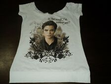 Size M Twilight new moon Edward Scoop neck Shirt New -What would I do w/o you?