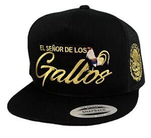GALLO GIRO ZACATECAS HAT MESH TRUCKER BLACK  ADJUSTABLE  NEW