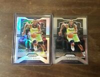 2019-20 Panini Prizm Andrew Wiggins Silver Holo and Base Timberwolves Warriors