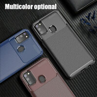 For Samsung Galaxy M30s Slim Classic Shockproof Carbon Fiber Soft TPU Cover Case