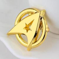 MOVIE STAR TREK GOLDEN BADGE BROOCH PIN COSPLAY METAL BADGE ACCESSORIES GIFT