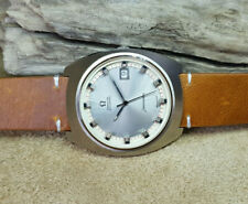 RARE HUGE 1970'S OMEGA SEAMASTER SILVER DIAL DATE AUTO MAN'S WATCH