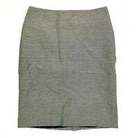 Talbots striped pencil skirt cream navy blue shimmer size 8 medium