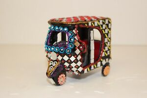 Handmade Decorative Mirror Work Rickshaw Truck Home Decor Ethnic Traditional