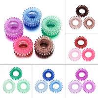 Elastic Spiral Coil Hair Ties Ponytail Holder Phone Cord Rope Hair Ring 3Pcs/set