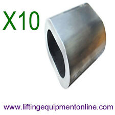 10x2mm Aluminium Wire Rope Ferrules Rigging