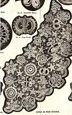 Vintage Visage Crochet pattern-how to make irish crochet lace motifs and collar
