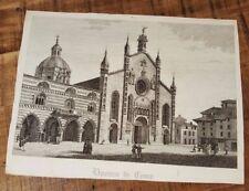 1 Engraving - DUOMO DE COMO (COMO CATHEDRAL) - 1800s
