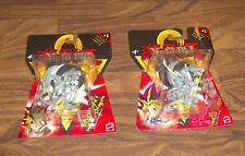 "Lot Of 2 Yu-Gi-Oh Series 1 Blue Eyes White Dragon Pvc 2"" Action Figure Moc"