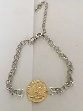 Aureus Of Nero Coin WC57 Gold Fine English Pewter on a Anklet / Bracelet