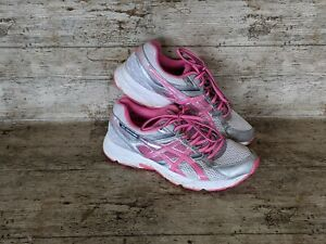 Asics Gel-Contend 3 Womens Size UK 7 Silver Pink White Running Shoes