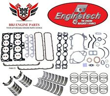Ford 429 460 7.5 1968 – 1985 Enginetech Rering Rebuild Kit With Main Bearings