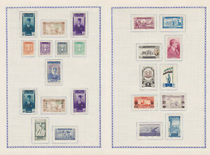 SYRIA SYRIE 1946-1959, 260 STAMPS, COMPLETE SETS, MLH