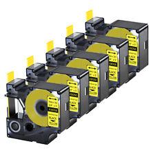 5pk For Dymo Rhino 42005200 Heat Shrink Tube 18058 Industry Label Tape 34x5
