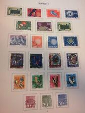 Sammlung, Schweiz 1960-1979 komplett, gestempelt Vollstempel ESST (288)