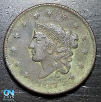 1837 Coronet Head Large Cent   --  MAKE US AN OFFER!  #K3144