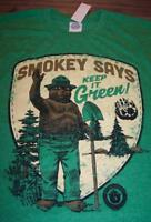 VINTAGE STYLE SMOKEY THE BEAR Keep It Green T-Shirt LARGE 80's NEW w/ TAG