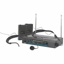 QTX 171.818 Vn2 Dual Neckband Wireless VHF Microphone System With 2 Microphones