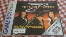 Game Boy Color Z THE MASK OF ZORRO Original Instructions Instruction NINTENDO