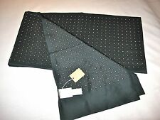 J.Crew New With Tag Printed Silk Scarf Color:Green W/ White Red Dots Onesize