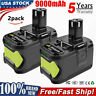 2× 9.0Ah 18 VOLT P108 for RYOBI ONE PLUS Lithium-Ion High Capacity Battery TP