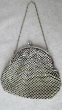 Vintage Czech Silver Plated Dazzling Paste Diamante Rhinestone Evening Purse Bag