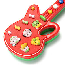 Kids Educational Toddler Baby Electronic Guitar Toy Sound Music Play Hand Holder