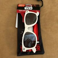 Disney Star Wars Storm Trooper Foster Grant sunglasses and case white kids