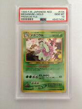 PSA 10 Japanese Pokemon Card Meganium #154 Neo Premium File. UK Seller.