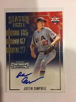 2016 Justin Campbell Panini Elite EE CONTENDERS AUTO Autograph Team USA